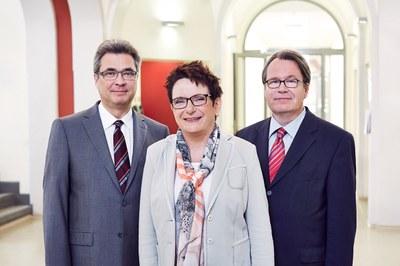 Die Krankenhausleiung – vlnr: Heinz Augustin, Marion Brand, Prof. Dr. med. Georg Juckel
