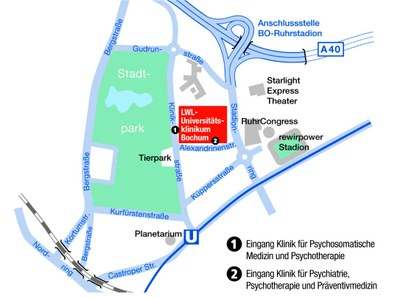 Anfahrt LWL-Universitätsklinikum Bochum